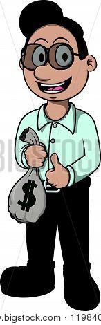 loan officer vector cartoon illustration design