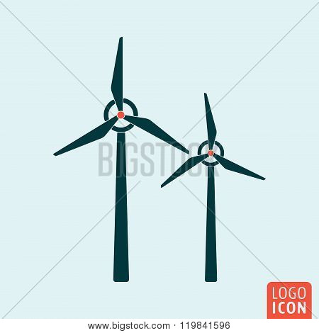 Windmill icon isolated