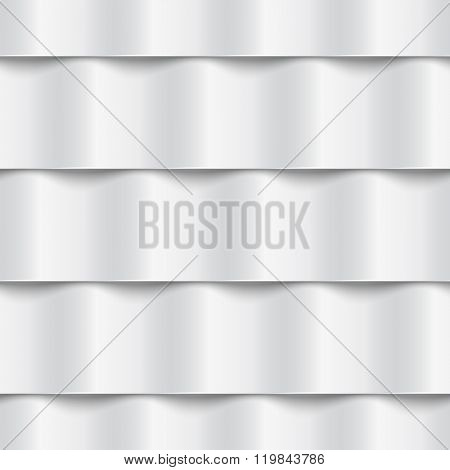 Vector seamless geometric pattern with 3D effect. Roof metal tiles.