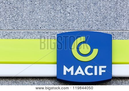 Macif sign on a wall