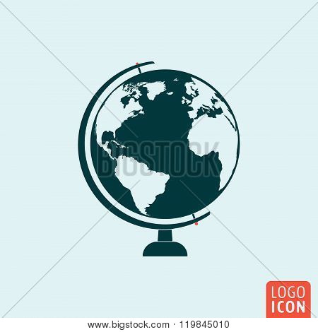 Globe Icon Isolated
