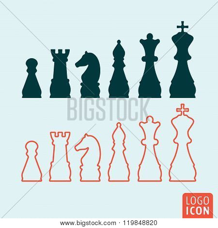 Chess Icon Isolated