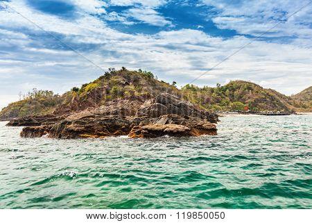 Stone Coast on Island near Nha Trang, Vietnam