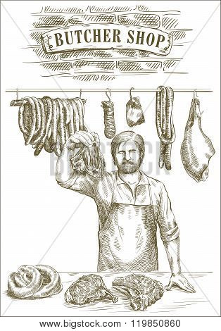 Butcher offers fresh meat