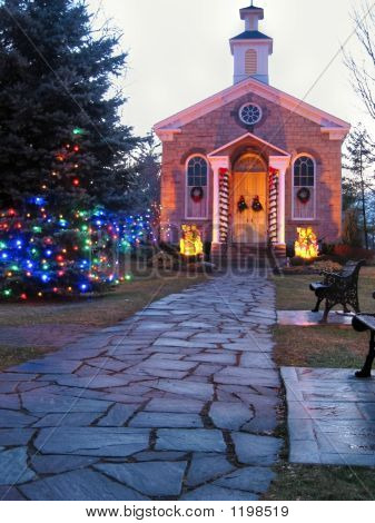 Ancaster Old Town Hall At Christmas