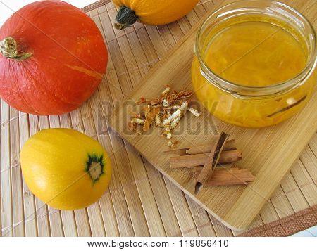 Squash jam with cinnamon and orange peel poster