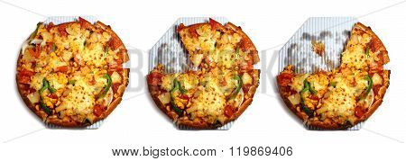 Vegetarian Pizza Step Cut Off To Eat
