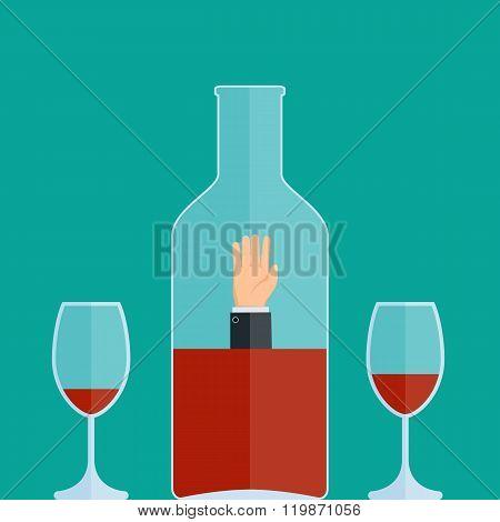 Man Drowns In A Bottle