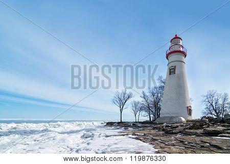 Marblehead Lighthouse Winter Scene