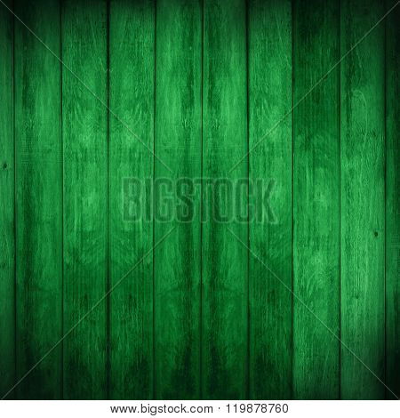 Green Wooden Rustic Background