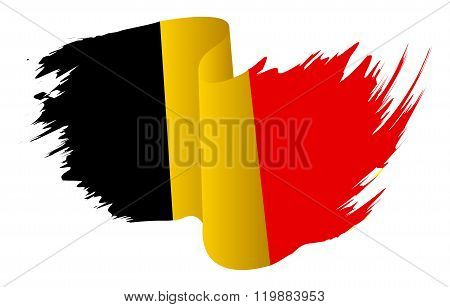 Belgium Flag Vector Symbol Icon  Design. Belgian Flag Color Illustration Isolated On White Backgroun