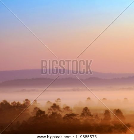Blurred Sunrise Background Early Morning Light The Natural Lighting Phenomena.