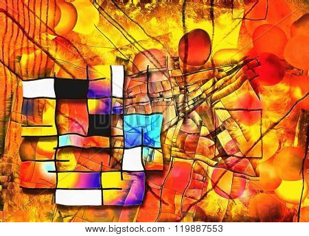 Painterly Colorful Abstract