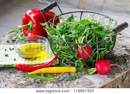 Ruccolaor arugula  For Fresh Green Salad