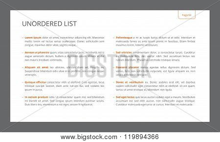 Unordered List Slide Template
