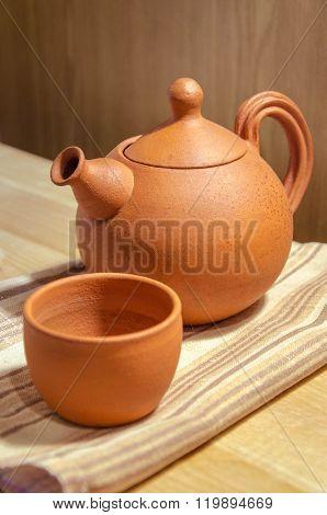 Clay teaset
