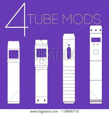 4 Vaping Tube Mods Set
