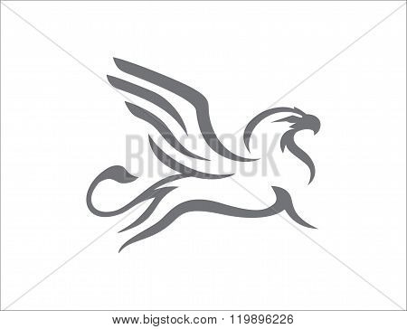 Griffin abstract gray