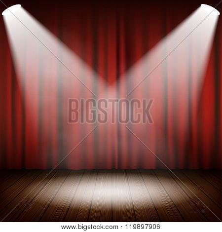 Theatrical Scene Vector