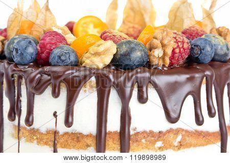 Naked Birthday Cake With Fruits