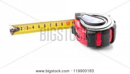 Tape-measure isolated on white background.