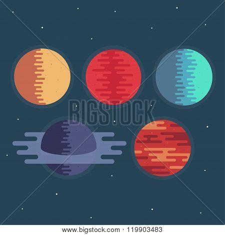 Planets Vector Illustration