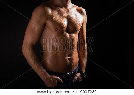 Sexy man's torso