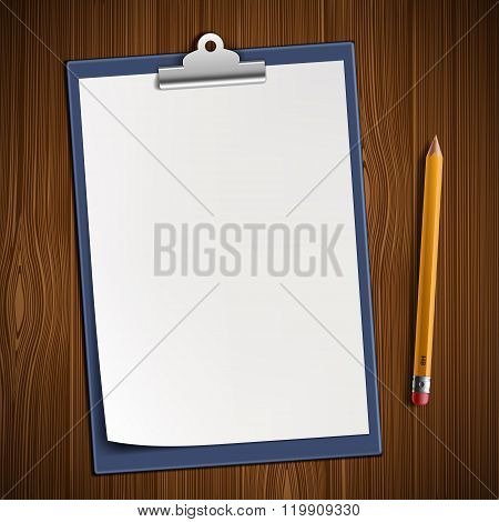 Clipboard With Blank Sheet
