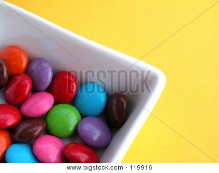 candy on plate poster