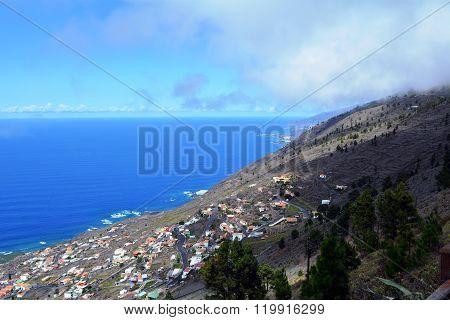 Coastline scene from La Palma Island.Canary Islands.Spain.