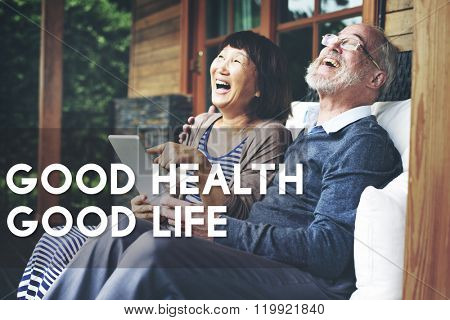 Good Health Good Life Lifestyle Nutrition Exercise Concept