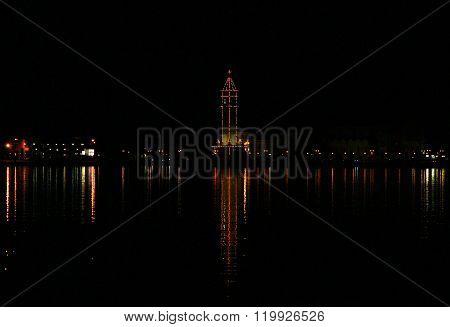Greece. Zakynthos. The Capital Of The Island At Night
