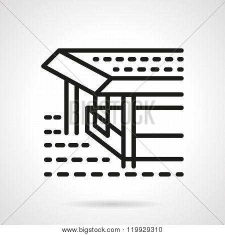 Pier black line design vector icon