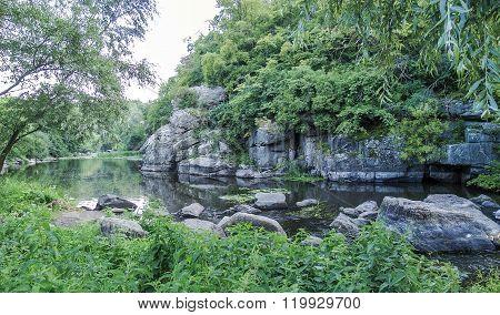 Buky canyon in the Cherkassy region Ukraine. River Mountain Tikich.