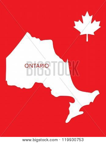 Vector Canadian Province Map and Icon - Ontario