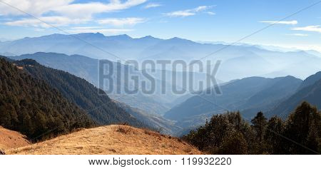 Blue Horizons - View From Khaptad National Park, Nepal