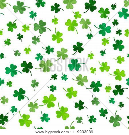 Clover seamless pattern. Vector illustration