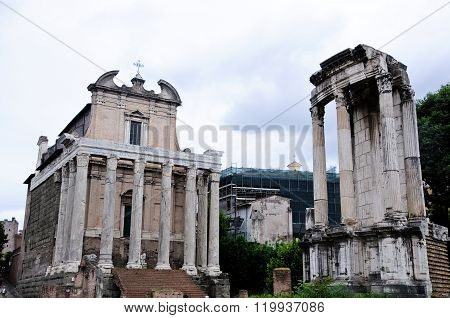 Monument In The Roman Forum, In Particular The