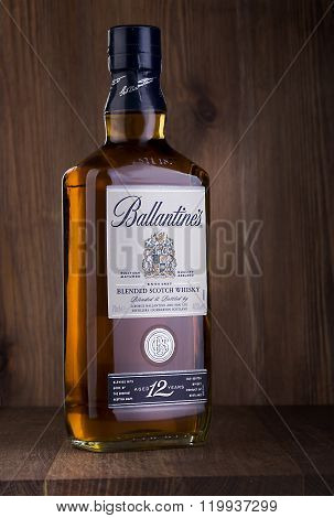 Bottle Of  Ballantine's Whiskey