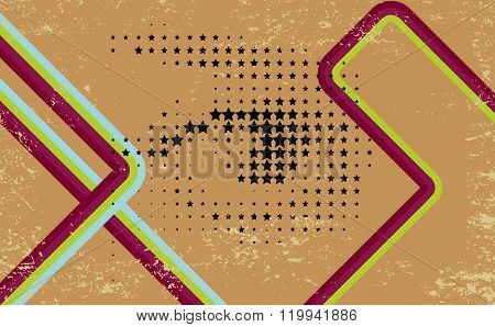 Abstract Grunge Lines Background.