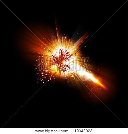 Abstract explode effect easy all editable