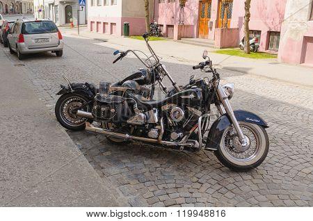 Two Harley Davidson Motorbikes