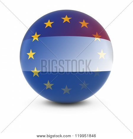 Dutch And European Flag Ball - Fading Flags Of The Netherlands And The Eu