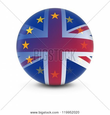 British And European Flag Ball - Fading Flags Of The Uk And The Eu