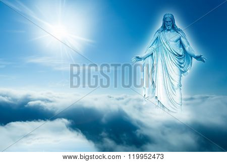 God Looks Down From Heaven Concept Of Religion