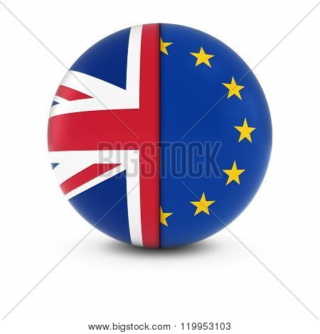 British And European Flag Ball - Split Flags Of The Uk And The Eu