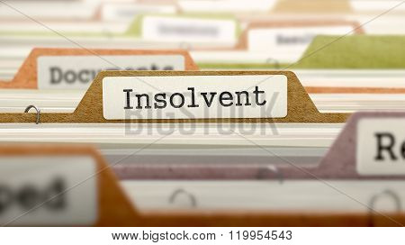 Insolvent - Folder Name in Directory.