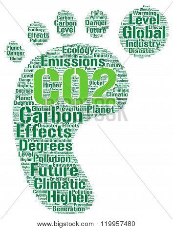 CO2 word cloud concept