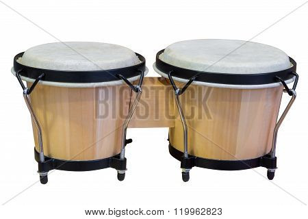 Bongos isolated on white background