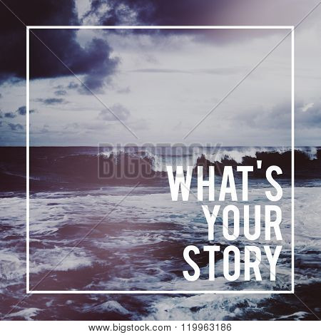 What is Your Story Personality Memory Experience Concept poster